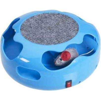 "Ethical Presents Mouse Chase Electronic Cat Toy. Motion Activated Mouse Runs for 15 Seconds and Stops Until Further Motion is Detected. Led Light Attracts Cat. Also has a Scratch Pad with Catnip. Designed for Solo Play. Has on/off Switch. Takes 2 ""C"" Batteries-not Included Pink, Blue or Green 1 Pack [18301]"