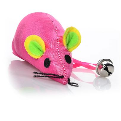 Ethical Presents Catnip Neon Mouse with Bell 3.5'. Neon Mouse in Fun Assorted Colors and Bell for Great Play Time Fun. [18302]