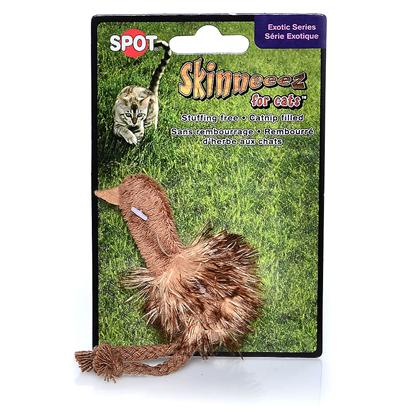 Ethical Presents Skinneez for Cats-Exotic Birds Spot Exotic. Plush Unstuffed Skinneez Cat Toy in Assorted Exotic Bird Styles. Fillied with Catnip. Contains a Flamingo or Ostrich. [18307]