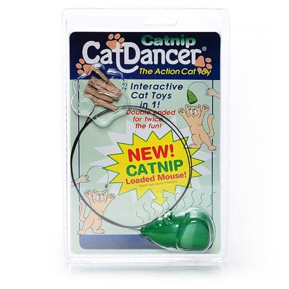 Cat Dancer Presents Cat Dancer Catnip Single Toy. The Catnip Cat Dancer Features the Same Lure as Cat Dancer but Incorporates a Mouse on the Other End. This Mouse is Infused with 100% Catnip Oil in the Molding Process and the Plastic will Give off the Scent of Catnip for Up to Four Months. The Product is Completely Sealed in a Two-Sided Blister to Keep the Catnip Vapor Locked in Until the Customer Opens the Package. [18335]