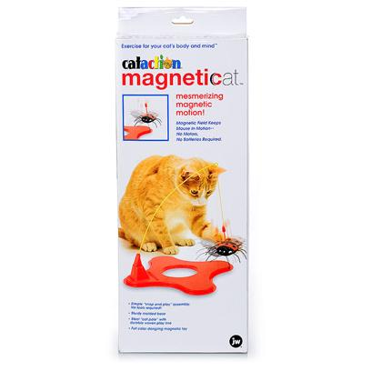 Jw Pet Company Presents Magneticat Toy. The Magneticat is a Dynamic New Toy that will Mesmerize Cats with its Magnetic Motion for Hours! Opposing Magnetic Forces Keep the Bug Moving on the End of its Line. No Batteries Needed! Color Red [18349]