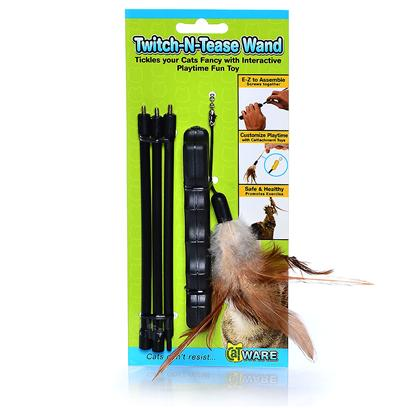 Ware Manufacturing Presents Twitch-N-Tease Dangler Wand Toy Ware. Hours of Interactive Fun with Kitty. [18370]