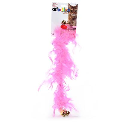 Jw Pet Company Presents Featherlite Boas Cat Play Wands. Use as a Dual Sales Tool with our Refillable Catnip Canisters that are Attached to Each of the 3 Colors Styles will Vary Depending on Color can be Used Alone or as an Interactive Feather Wand Toy [18377]