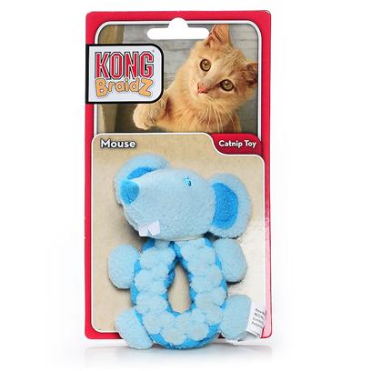 Kong Company Presents Kong Braidz-Round Mouse Cat Toy Bs41. [18411]