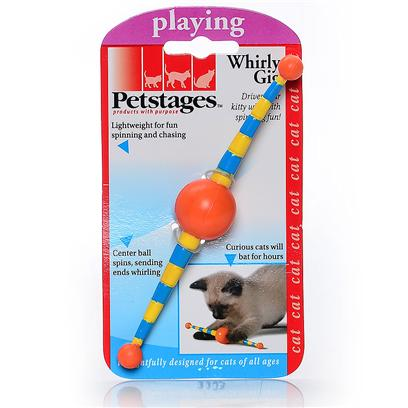 Petstages Presents Petstages Whirly Gig. Lightweight for Fun Spinning and Chasing. Center Ball Spins,Sending Ends Whirling. Curious Cats will Bat for Hours. Case Pack 48 [18426]