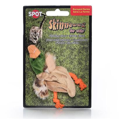 Ethical Presents Skinneeez for Cats 3' Duck W Nip Spot. Plush Unstuffed Skinneez Cat Toy in Assorted Animals. Fillied with Catnip [18442]