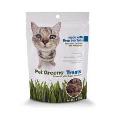 Bellrock Growers Presents Pet Greens Cat Treats 3oz Bellrock Treat Tuna. Available in Roasted Chicken, Deep Sea Tuna and Savory Salmon, our Wholesome, Semi-Moist Pet Greens Treats are the only Cat Treats Made with Organic Wheat Grass, an Excellent Source of Green Nutrition. Available in 3oz Bags. High Quality Fi Ber Found in Wheat Grass Aids in Digestion and Hairball Control. No Wheat Gluten no Artifi Cial Colors or Fl Avors Safe Alternative to Potentially Harmful Houseplants and Chemically Treated Outside Grasses. [18506]