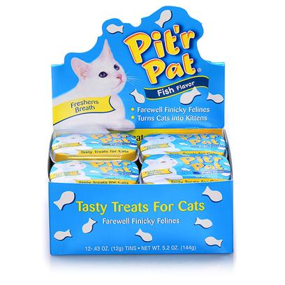 Chomp Presents Pitr Pat Cat Candy Tin Display 12pc Chp Pitter Fish. Pitr Pat Cat Candy Tin [18512]