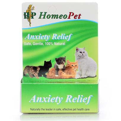 Homeopet Presents Homeopet Anxiety Relief Feline Drops. This all-Natural Anxiety Remedy is Great for Relieving your Cat's Stress Caused by Stressful Situation. Formulated to Reduce Crying, Hiding, Cowering, Drooling, Trembling, and Shaking. May be Used with Kittens or Cats. [18541]