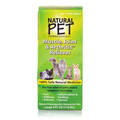 Tomlyn Presents Natural Pet Muscle Joint and Arthritis Reliever 4oz. Indications for Use for Fast, Safe Relief of Joint and Muscular Pain, Inflammation, Stiffness and Swelling Associated with Injuries or Arthritis. 4 Ounce Bottle 100% Safe Natural Medicine [18553]