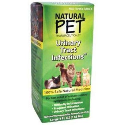 Tomlyn Presents Natural Pet Urinary Tract Infections 4oz. Indications for Use for Fast, Safe Relief from Symptoms of Painful, Difficult or Frequent Urination Associated with Urinary Tract Irritations or Infections. 4 Ounce Bottle 100% Safe Natural Medicine [18557]