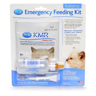 Petag Presents Kmr Emergency Feeding Kit. Everything Needed to Nurse an Orphan Kitten. Kit Contains 3/4 Oz. Pouch of Kmr Powder, 2 Oz. Nurser Bottle, Bene-Bac Single Dose Tube to Relieve Kitten's Intestinal Distress and a Brochure on how to Care and Feed your Orphan Animal. Kmr is a Complete Food. [18563]