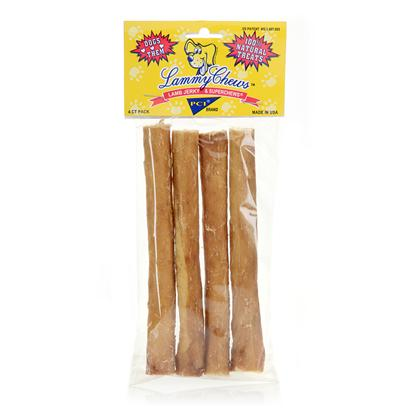 Pet Center Inc. Presents Pet Center 5' Lammy Chews 4ct Pci Chew. Lammy Chews are Beef Flavored Superchews which are Completely Covered in a Sleeve of 100% Pure Lamb Jerky! During the Cooking Process Lamb Juices Baste the Beef Superchew, Resulting in a Tasty Combination that Taste Test Doggies are Absolutely Crazy About! Made in Usa [18652]