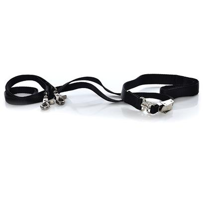 Sporn Pet Presents Sporn Double Dog Leash-Black Black. The Double-Dog Leash is Totally Adjustable Dog Leash for Walking Two Dogs! You have the Option of Walking Two Dogs Close Together, Two Dogs Far Apart; or Two Dogs of Different Sizes. This Original Leash Product Allows Owners Both Safer, Closer Control on Crowded Streets and a More Free, Wider Range During Park Walks! The Double-Dog Leash Straps are Made of Quality Nylon Webbing. All Parts are Made of Durable Custom Nickel-Plated Steel for Reliable Strength and Reduced Weathering. The Double-Dog Leash Features a no-Tangle Design, and the Patented Sporn Adjusti-Buckle. [18776]