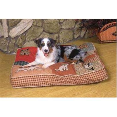 Petmate Presents Quilted Novelty Bed 30 X 40' Pm 30x40. Zippered for Easy Cleaning. Filled with Polyester Fiber and Dried Cedar Shavings. [18822]