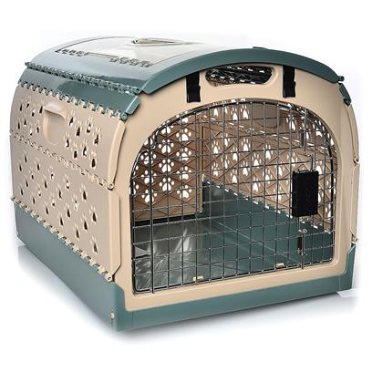 Nylabone Presents Nylabone Cozytime Pet Home &amp;Amp Carrier 21' X 16' 15'. This Colorful and Sturdy Plastic Crate is Excellent for Smaller Pets. Quick Assembly and Easy to Fold Down and Put Away. It has a Clear Top which Allows your Pet More Visibility from Inside the Crate. This has Steel Doors for Added Protection and Safety. Has Paw Print Cut on the Sides and Comfort Grip Handle for Transportation. Dimensions 21 X 16 X 15 Inches Color Sand with Sea Mist Accent 21x16x15&quot; [18892]