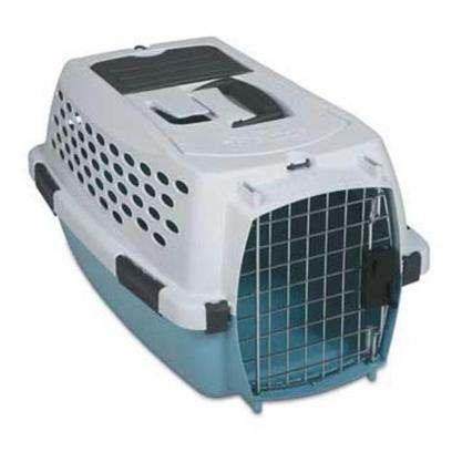 Petmate Presents Petmate Kennel Cab-Linen or Teal Medium. This Stylishly Designed Portable Kennel Features a Safety Seat Belt Slot, Shoulder Strap Eyelets, a Storage Compartment and Quick-Latching System for Easy Assembly. Kennel Cab also Features a Comfortable Rubber Grip Handle and Strong Wire Door. Case Pk 5 Color Bleached Linen/Spa Teal [18916]
