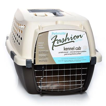 Petmate Presents Petmate Fashion Kennel Cab-Medium Espresso. This Stylishly Designed Portable Kennel Features a Safety Seat Belt Slot, Shoulder Strap Eyelets, a Storage Compartment and Quick-Latching System for Easy Assembly. Kennel Cab also Features a Comfortable Rubber Grip Handle and Strong Wire Door. Color Bubble Gum/Pampered Pink Case Pk 5 [18919]