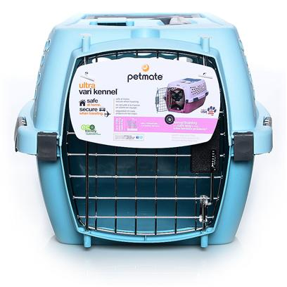 Petmate Presents Petmate Kennel Cab Pet Carrier Blue 19'l X 12.6'w 10'h. This Stylishly Designed Portable Kennel Features a Safety Seat Belt Slot, Shoulder Strap Eyelets, a Storage Compartment and Quick-Latching System for Easy Assembly. The Shell is Made with Heavy Duty Plastic. Top and Bottomshells Lock Together Securely with Front, Back and Side Latches. Kennel Cab also Features a Comfortable Rubber Grip Handle and Strong Wire Door with Side and Back Ventilation Holes to Promote Healthy Air Flow. [18920]