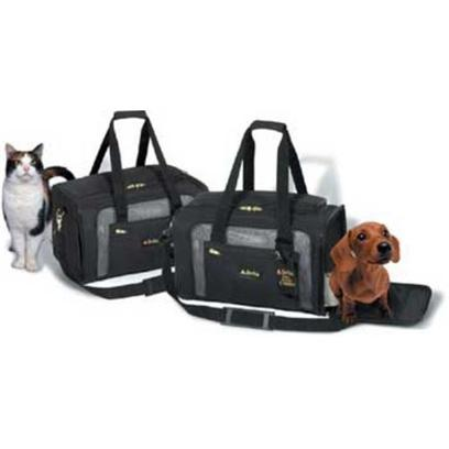 Sherpa Pet Carriers Presents Sherpa Delta Deluxe Medium-Black Medium (Med) Black. No More Guessing if your Pet Carrier will Fit under your Seat when you Fly. The Sherpa Delta Deluxe Pet Carrier is the Official Pet Carrier of Delta Airlines and is Approved on a Variety of Other Commercial Airlines.This Luggage Quality, Deluxe Dog Carrier for Small Pets Features Front and Top Entry for Easy Access and Large Mesh Panels for Optimal Ventilation. It Even Comes with Zippered Side Pocket for all your Travel Essentials.The Zippers Lock for Additional Security so you Won't Worry About your Pup Making a Break for It. And the Sherpa Dog Carrier has Roll-Up/Roll-Down Shades for Privacy. The Carrier has an Inside Leash Ring and a Safety Strap for Wheelies or Roll-Aboard Luggage. You'l Love the Detachable Shoulder Strap that Doubles as a Leash. Although the Carrier is Ideal for Air Travel, it's also Great for Car Travel and Even Comes with a Seat Belt Strap for Car Safety. When You're Back Home, Simply Remove the Washable Lining and Fold the Carrier Flat for Storage After your Trip. [18939]