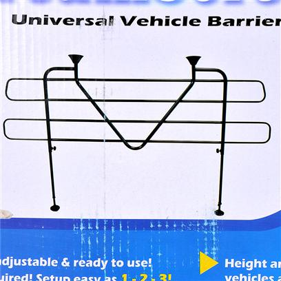 Pet Tek Presents Dreamscreen Universal Vehicle Barrier. Helps Keep your Pet out of the Main Cabin, Making Driving Safer for you and your Human and Animal Passengers. The Barrier Provides Great Ventilation and High Visibility Along with Low Glare, so your View is Never Obstructed. The Long-Lasting Finish Allows for Years of Service and the Lightweight Design Makes Installation and Removal Easy. You can Even Adjust the Height and Width to Fit your Specific Vehicle. [19057]
