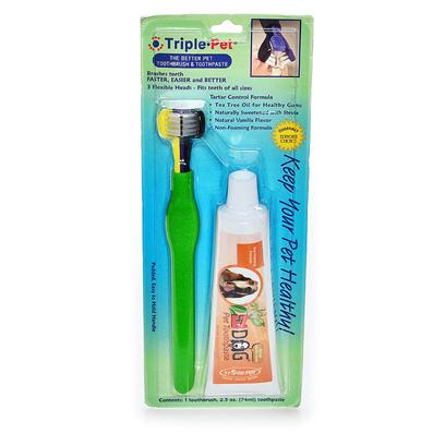 Trixie Presents Triple Pet Dental Kit Tp. A 12pc Display of 2.5oz Toothpaste. The Paste has a Tartar Control Formula and is Non-Foaming. This is the only Sugar Free, all Natural Toothpaste Available. The Rest Sweeten with some Form of Sugar. This is the Best Pet Toothpaste Made! [19139]