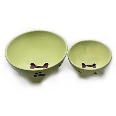 Buy Dog Supply Stoneware Footed products including Stoneware Footed Dog Dish Spot 7' Blue, Stoneware Footed Dog Dish Spot 7' Pink, Stoneware Footed Dog Dish Spot 5' Green Category:Bowls Price: from $6.99