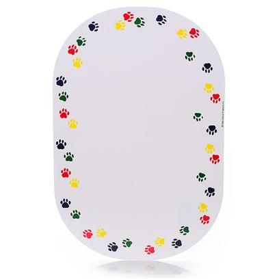 Ethical Presents Dog Placemat with Paw Print Placement. Placemats are a Perfect Way to Finish any Set. Keeps Floor Clean, Prevents Bowls from Slipping, Easy to Clean. [19304]