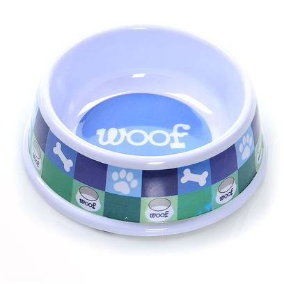 Ethical Presents Designer Woof no-Tip Plastic Dish Spot 6' Blue. ItS Hard to Look Good while Eating. WeVe all Got to Eat, but we DonT Often Get a Chance to Look Classy in the Process. Granted, itS Entirely Possible that Dogs may not be Quite as Vain as their Human Counterparts, we ShouldnT Leave Such a Delicate Matter to Chance. Ethical Pet ProductS Designer Woof no-Tip Plastic Dish will Leave Few Onlookers Doubting- youVe Got a Posh Pooch. The Sturdy Plastic no Tip Design and no Skid Bottom Keep Entropy at Bay, Allowing your Dog to Dine with Confidence. So, you can Give your Dog a Regular Dish and Risk the Horror of Watching your Dog Hopelessly Lapping at a Bland Dish that Slides Around the Room, Threatening to Tip over and Anoint the Floor with its Contents, or you can Pick Up Ethical Pet ProductS Designer Woof no-Tip Plastic Dish. [19397]