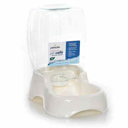 Petmate Presents Petmate Cafe Waterer Pm 1.5gal Prl/Wh. A Stylishly Designed Gravity Waterer. Easy to Clean and Fill. Water Level Automatically Replenishes as Needed. [19506]