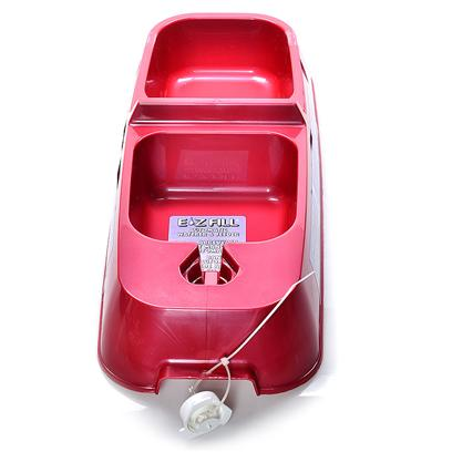 Van Ness Presents Automatic Waterer and Feeder for Dogs. Use Pop Bottle for Water, Feeding Dish is Removable for Cleaning, Dishwasher Safe, Assorted Colors 18 3/4&quot; X 6&quot; X 3 1/2&quot;, Capacity 30oz/28oz Per Side [19553]
