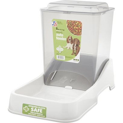 "Van Ness Presents Pureness Auto Feeder 10lb. Hinged Top, Clear Smoke Finish for Easy Viewing, Nests for Efficient Shelf Display 11 3/8"" X 6 7/8"" X 8 7/8"", Capacity 3 Lbs. [19555]"