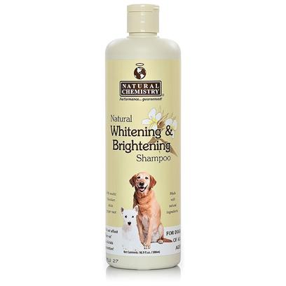 Natural Chemistry Presents Natural Chemistry Whitening Shampoo 16oz. Will Help Maintain and Restore your Pets Coat to a Beautiful Bright White Color. Natural Botanical Hawaiian Ginger Root Leaving Coat Shiny and White. Excludes Bleach and Peroxides. Deep Cleans with an Added Protective Conditioner. Specially Formulated to be Effective, Ph Balanced, Hypoallergenic and 100 Percent Safe. [19602]