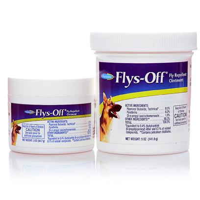 Farnam Presents Flys-off Ointment Fly Repellent 2oz. 7.10 for Use Around Wounds, Sores and Other Sensitive Areas, Kills House Flies, Stable Flies, Face Flies and Horn Flies Available in 2 Oz. And 5 Oz. Jar [19638]