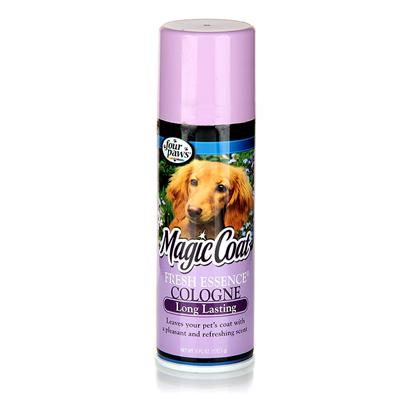 Four Paws Presents Fresh Essence Cologne Silver Bottle-3oz. Fresh Essence Cologne Leaves your Pet's Coat with a Long Lasting, Pleasant Refreshing Fragrance and Completely Deodorizes your Pet's Coat. 6oz. (170.1g) 6 Oz. [19641]