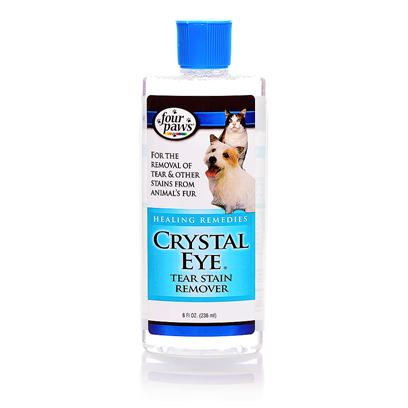 Four Paws Presents Crystal Eye 8oz Fp. 16 Four Paws Crystal Eye is a Safe Tear Stain Remover for Dogs and Cats. Crystal Eye Canalso be Used on Boxers, Bulldogs, Shar-Peis and Similar Breeds to Clean Between the Folds of their Skin. 8oz. (236ml) [19646]