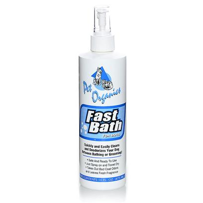 Pet Organics Presents Fast Bath for Dog 16oz. Quickly and Easily Cleans and Deodorizes your Dog Between Bathing and Grooming [19661]