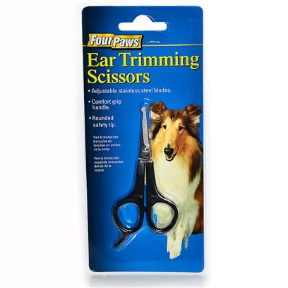 Four Paws Presents Ear Trimming Scissors. Four Paws Ear Trimming Scissors are Perfect for Cutting Unwanted Hair Around the Ears as Well as Other Difficult and Sensitive Areas. The Blunt, Round Edges Ensure your Pet's Safety. [19717]