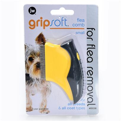Jw Pet Company Presents Gripsoft Small Flea Comb. Dog Grooming Tool Fits into the Palm of the Hand while Allowing the User the Ability to Lift Fleas and Eggs out of any Type of Coat. The Newly Designed Flea Comb has Finger-Fitting Contours to Increase Control and Comfort to the User while Giving the User the Ability to Lift Fleas and Eggs out of any Type of Coat. The Flea Comb can be Used on all Coat Types. Ergonically Designed . New Packaging Helps Make the Process of Choosing the Correct Tool Fast and Easy. 3 Year Guarantee [19737]