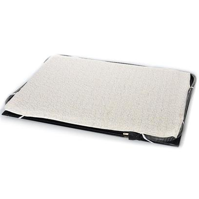 Farm Innovators Presents Heated Pet Mat with Fleece Cover Medium 17' X 24'. 60 Watt Small Heated Pet Mat Constructed of Durable and Weather Resistant High Impact Abs Plastic 60 Watts of Power Comes with Free Fleece Cover Designed to Automatically Heat to your Pet's Body Temperature Range to Keep them Warm During the Winter Thermostatically Controlled to Help Maintain Pet's Body Temperature Custom Built-in Red Indicator Light Shows when the Unit is Operating Heavy Duty Anti-Chew Cord Protector to Deter your Pet from Chewing Designed for Indoor or Outdoor Use 1 Year Warranty [19820]
