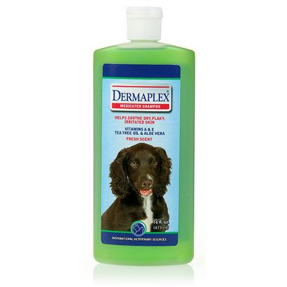 International Veterinary Presents Dermaplex 16oz. Dermaplex Medicated Shampoo for the Relief of Dry, Flaky, Irritated Skin. Dermaplex Contains Micellized Vitamin a & E Plus Aloe Vera and Tea Tree Oil. Vitamin a & E are Micellized Using a Unique Patented Process that Enables Fat-Soluble Nutrients to Absorb Rapidly through the Cell Membranes Increasing the Overall Effectiveness of the Product. Micellization Increases Ingredient Absorption as Much as Five Time Verses an Un-Micellized Product. Increased Absorption Leads to Increased Effectiveness. Dermaplex Medicated Shampoo is Pleasant Smelling and is Tar and Sulfur Free. Dermaplex Comes in 8, 16 Oz and 1 Gallon Sizes for all Dogs. Dermaplex is from the Makers of Lipiderm. Dermaplex Medicated Shampoo, 8 Oz. [19921]