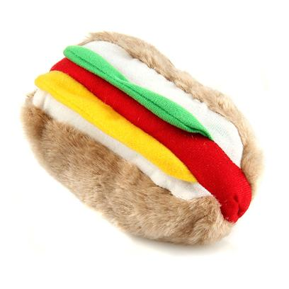 Petmate Presents Hot Dog Soft Bite Toy-Medium Hotdog. The &quot;Original&quot;Plush Dog Toy Fun Shapes and Colors any Dog would Adore Washable, Synthetic Fabrics all Toys Contain Squeak, Grunt or Roar Sounds [20022]
