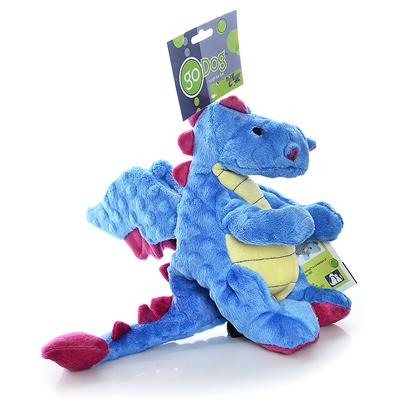 Go Dog Toys Presents Godog Baby Dragon with Chewguard-Godog Dragon-Periwinkle. The Sherpa Godog Dog Toys are Great Toys to Keep your Pet Distracted while you are Way. These Dog Toys all have Squeakers to Entice your Dog to Play. Some of the Godog Toys are Flat, and Easy to Shake and Flap Around. Some of the Godog Toys have Chew Guard, a Manufacturing Technique that Lines these Toys with a Durable Liner and Double Stitched Seams for Added Strength. These Dog Toys are Tough, Rugged and Available in Large or Mini Sizes to Fit your Dog's Needs. Choose from Roadkill, Barnyard Buddies, Baby Dragons and More. Baby Dragon with Chewguard Periwinkle Blue 10in Periwinkle Blue 10&quot; [20045]