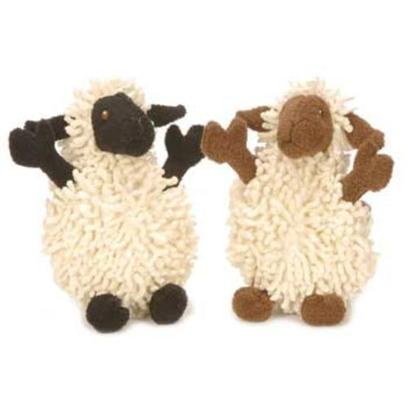 "Go Dog Toys Presents Godog Mini Fuzzy Wuzzy Lamb Plush Toy 5' Fzy Wzy. Created with Toy Breed Dogs and Puppies in Mind. This Sheep has Legs and Ears that Stick out Beyond the Ball and is Great for your Little Dog to Carry Around. The Fuzzy Body, Soft Legs, and Squeaky Sounds will Attract your Dogs Attention. Your Small Dog will Adore this Chew Toy. 5"" [20055]"