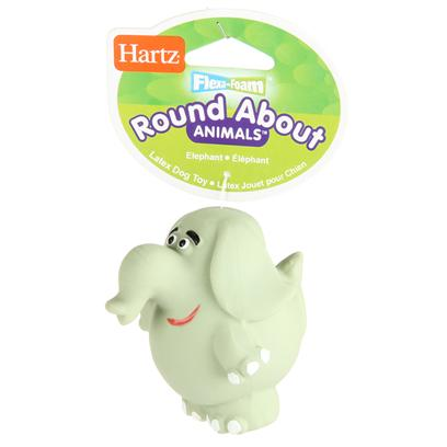 Hartz Presents Flexa Foam Roundabout Animals Toy Elephant Small. Flexa Foam Toys Latex with Squeeker [20132]