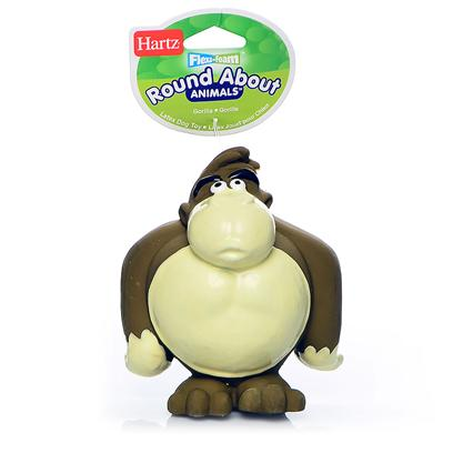 Hartz Presents Flexa Foam Roundabout Animals Toy Gorilla Small. Flexa Foam Toys Latex with Squeeker [20135]