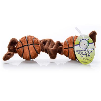 Coastal Presents Li'l Pals Tug Toy Basketballs. Li'l Pals Offers a Complete Range of Quality Products for Tiny Pups. Small-Scale Collars, Toys, Grooming Tools, Identification Tags and Bandannas are Perfectly Proportioned to Meet the Needs of Petite Pets. [20176]