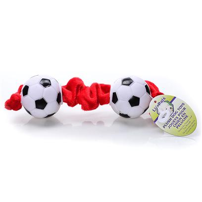 Coastal Presents Li'l Pals Tug Toy Soccer Balls. Li'l Pals Offers a Complete Range of Quality Products for Tiny Pups. Small-Scale Collars, Toys, Grooming Tools, Identification Tags and Bandannas are Perfectly Proportioned to Meet the Needs of Petite Pets. [20177]