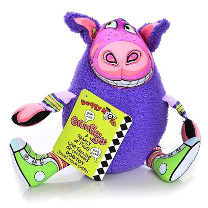 Petmate Presents Gruntleys Grunting Animals Dog Toy. Meet the Gruntleys! Always Ready for a Good Ol' Fashioned Grunt-O-Rama, our Family of Outspoken Oinkers Feature a Perfectly-Porklike Sound Device that Dogs just Can't Resist. Forget the Bacon - these Happy Hogs will have your Dog Beggin' for More (and More)! E-I-E-I-O! [20185]