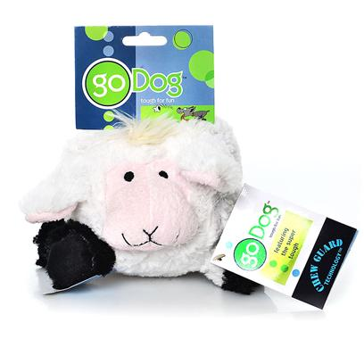 Go Dog Toys Presents Godog Chewguard Puppy Toughball Lamb 5' Tough Ball. Puppy Tough Balls with Chew Guard Technology are Sold in Packs of 1 of the Same Animal - Assortment not Available. [20190]